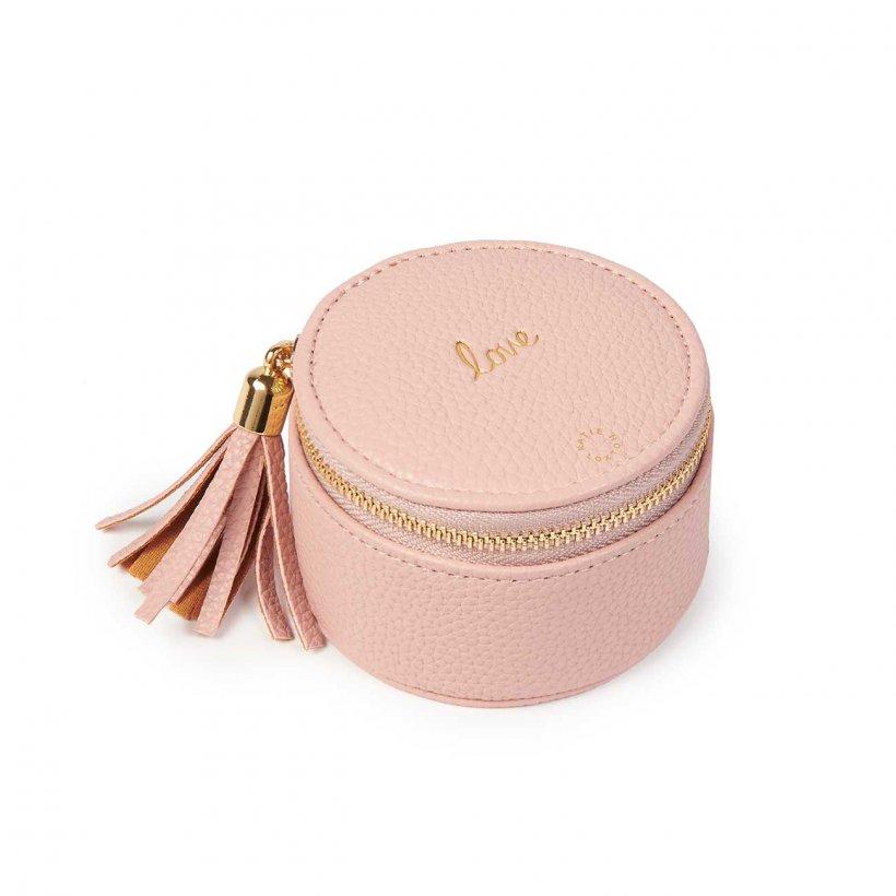 Katie Loxton Jewellery Box - 'Love' Pink Round