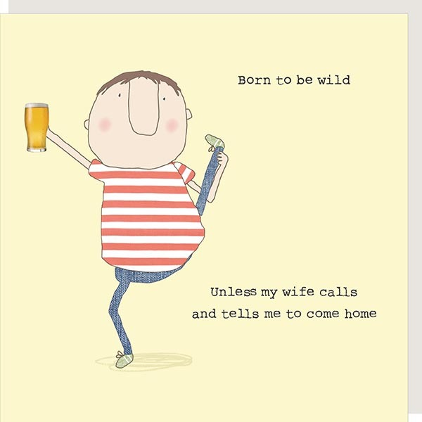 Card Male Rosie - Born to Be Wild 140