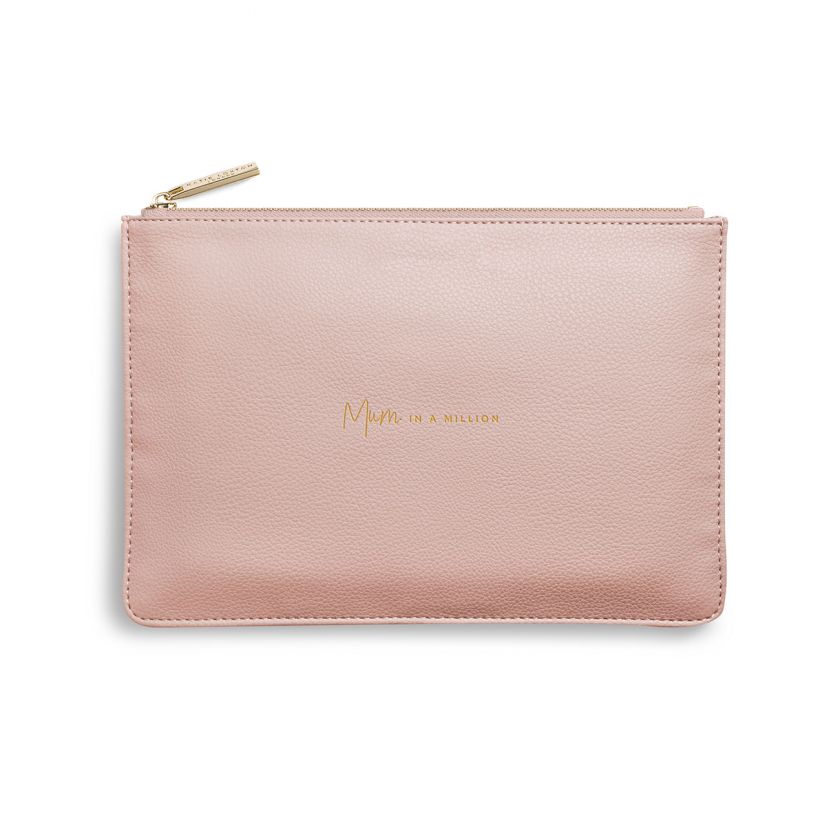 Katie Loxton Perfect Pouch - 'Mum In A Million' Pale Pink