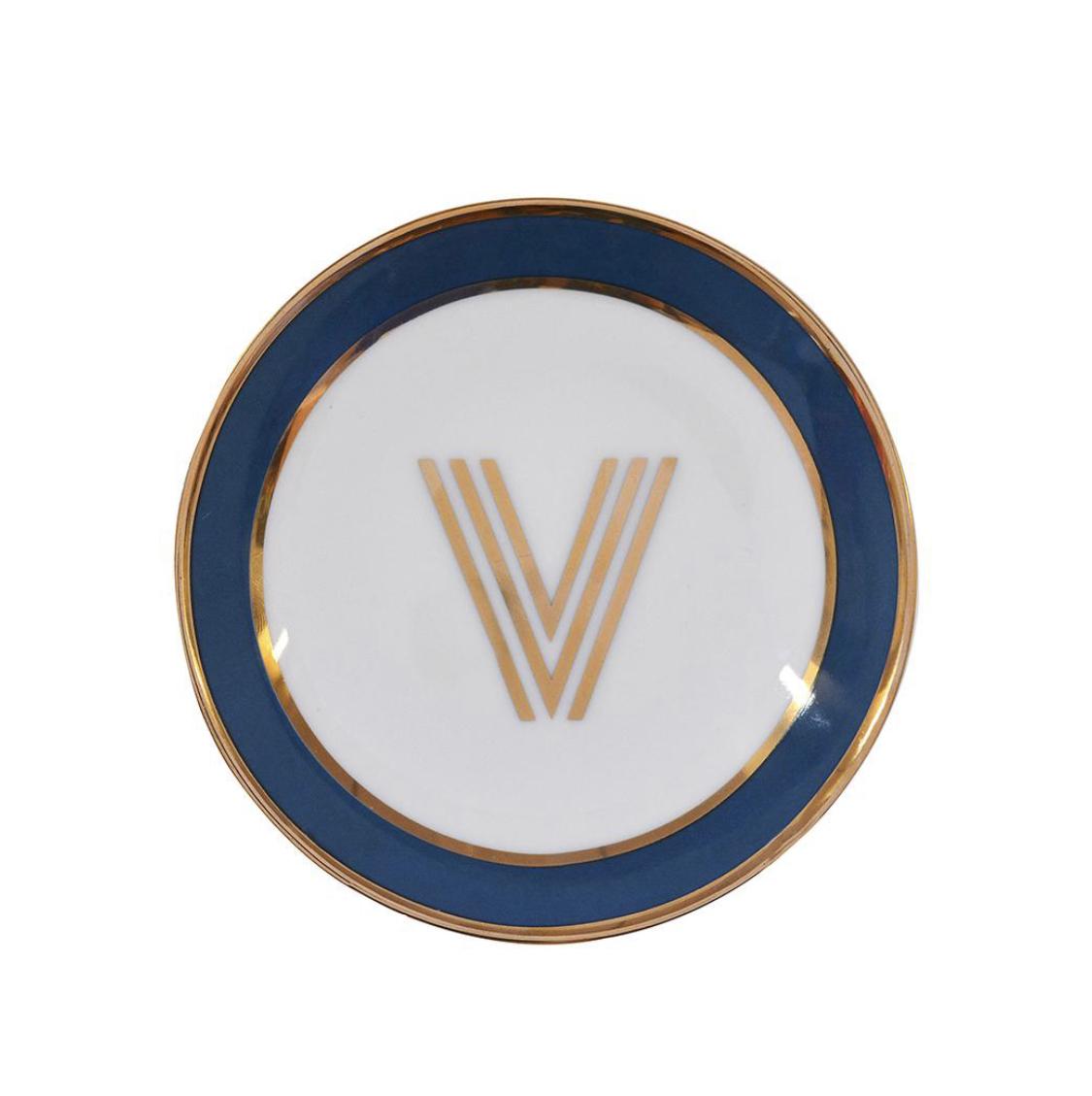 Bombay Duck Alphabet Trinket Dish - V