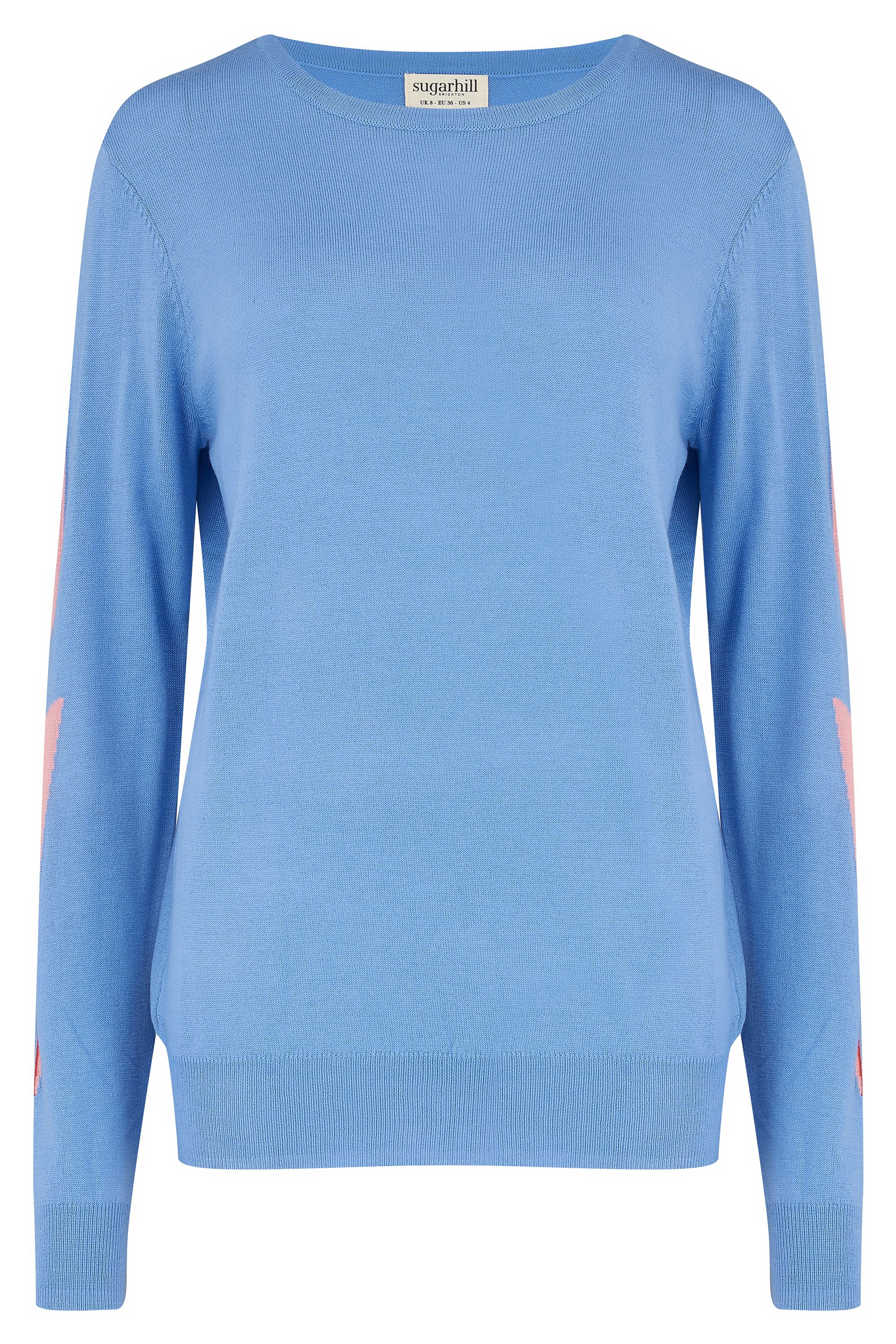 NEW Sugarhill Brighton Velma Sweater - Lightning Sleeve Blue