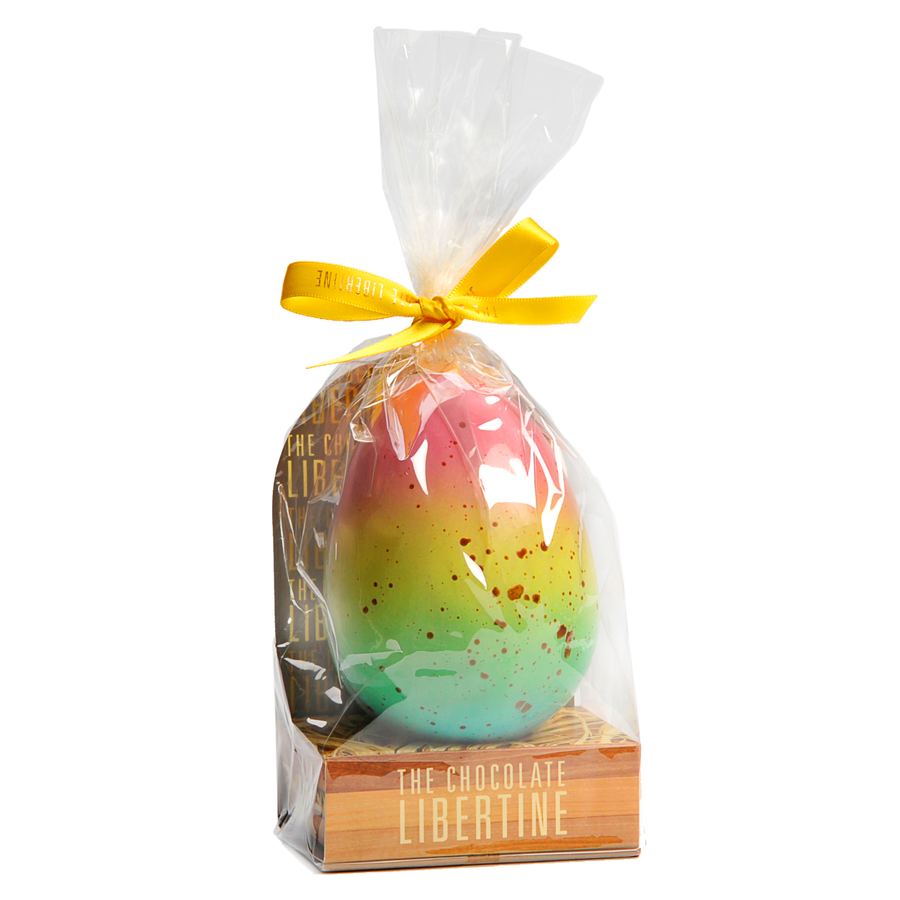 EGGS! The Chocolate Libertine Easter Egg - Rainbow Milk Chocolate Filled With Honeycomb Clusters