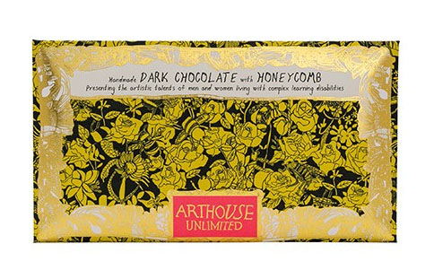 Arthouse Unlimited Dark Chocolate - Bee with Honeycomb Pieces