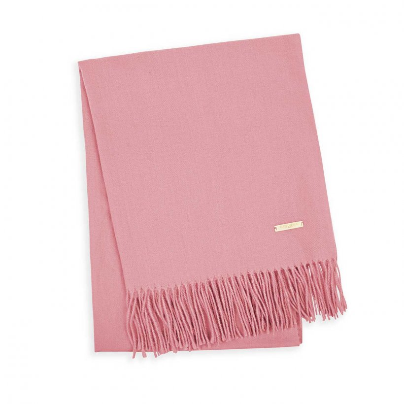 Katie Loxton Scarf - Wrapped Up In Love -Thick Plain Pink in Gift Box