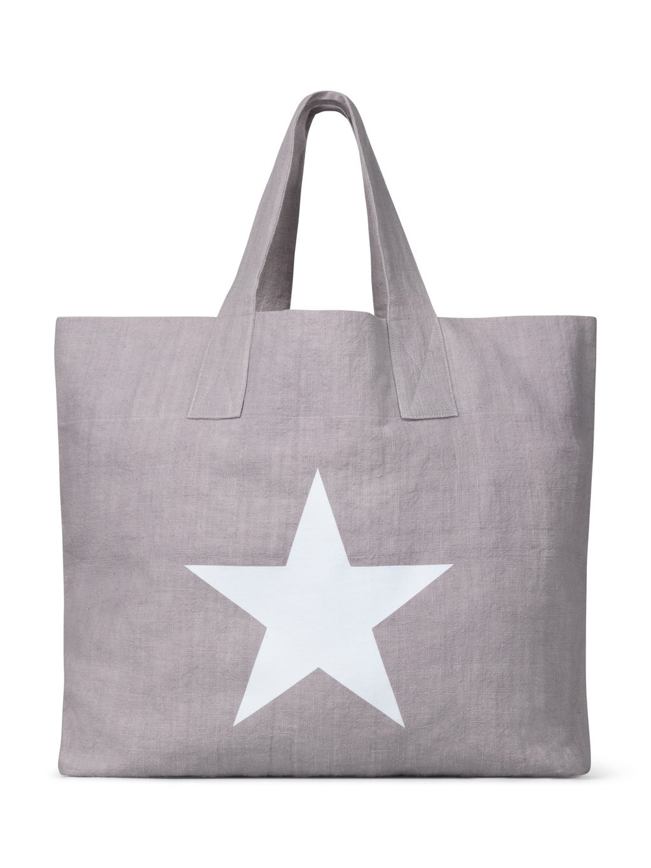 Chalk Tote Bag - STAR in Silver Grey