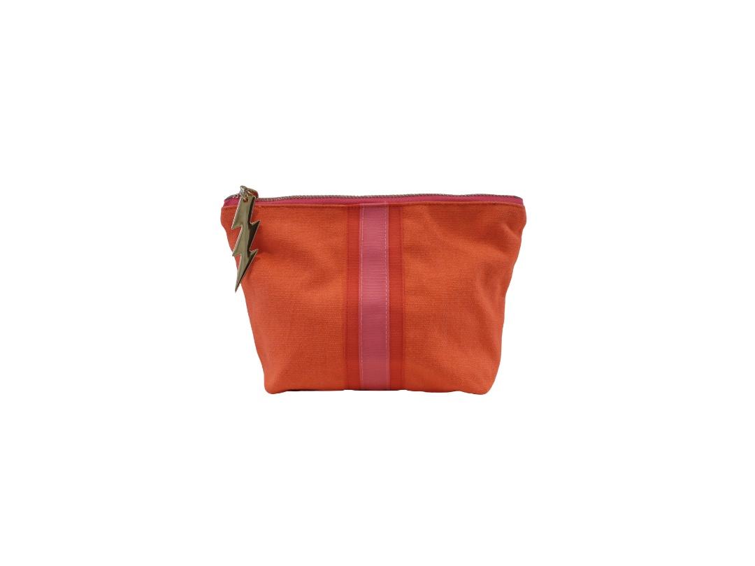 Cockatoo Bag - Lucky Stripe, Orange Small