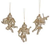 Gisela Graham Christmas Decoration Celestial - Cherub Gold 17827