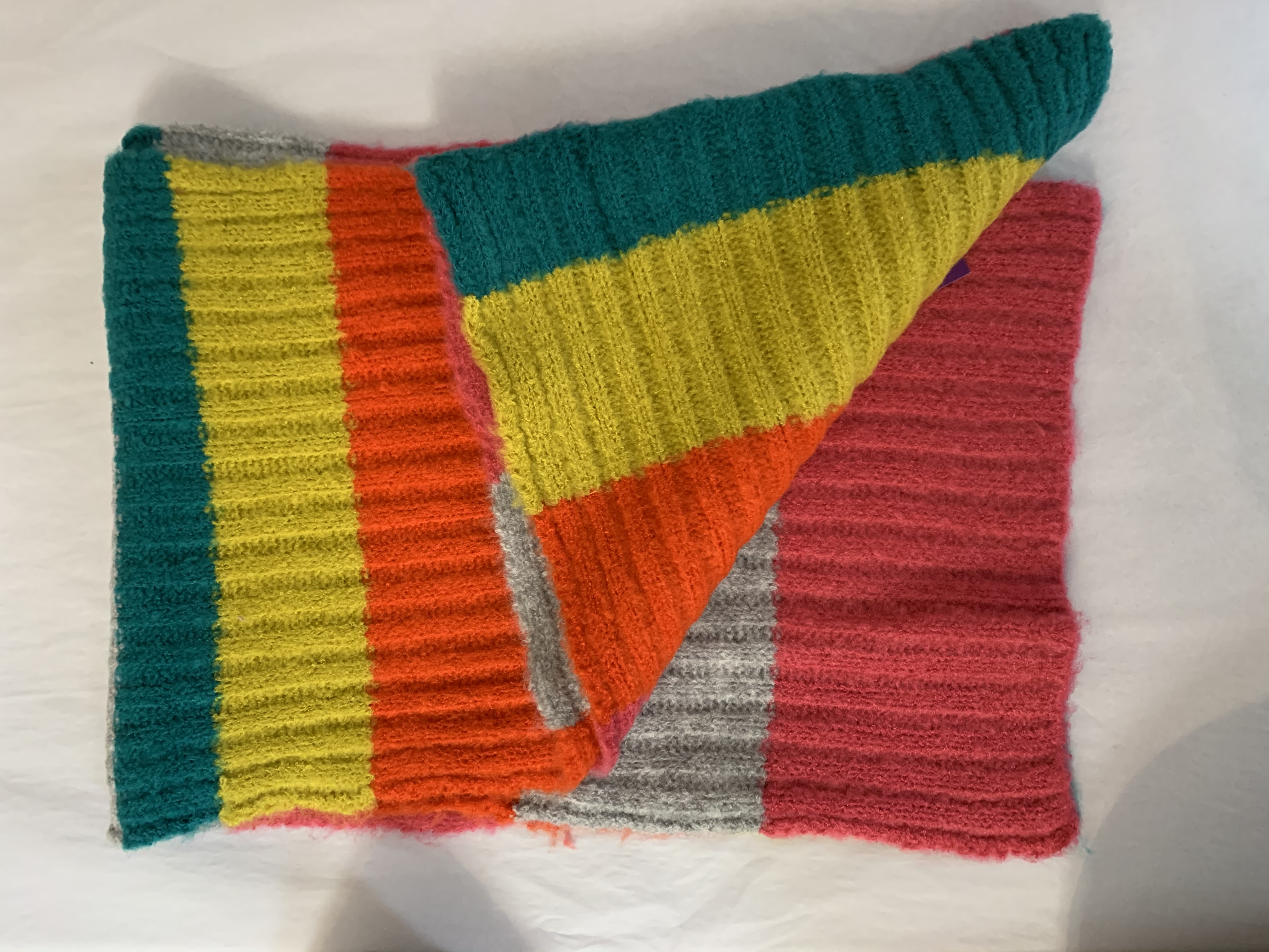 Bobble Hat Gift Set - Multi Coloured Stripe Boardmans