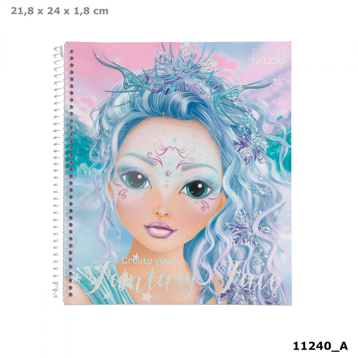 Top Model Fantasy Face Colouring Book