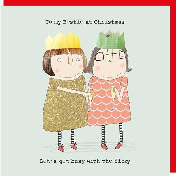Christmas Card Rosie - Bestie Xmas XREL01