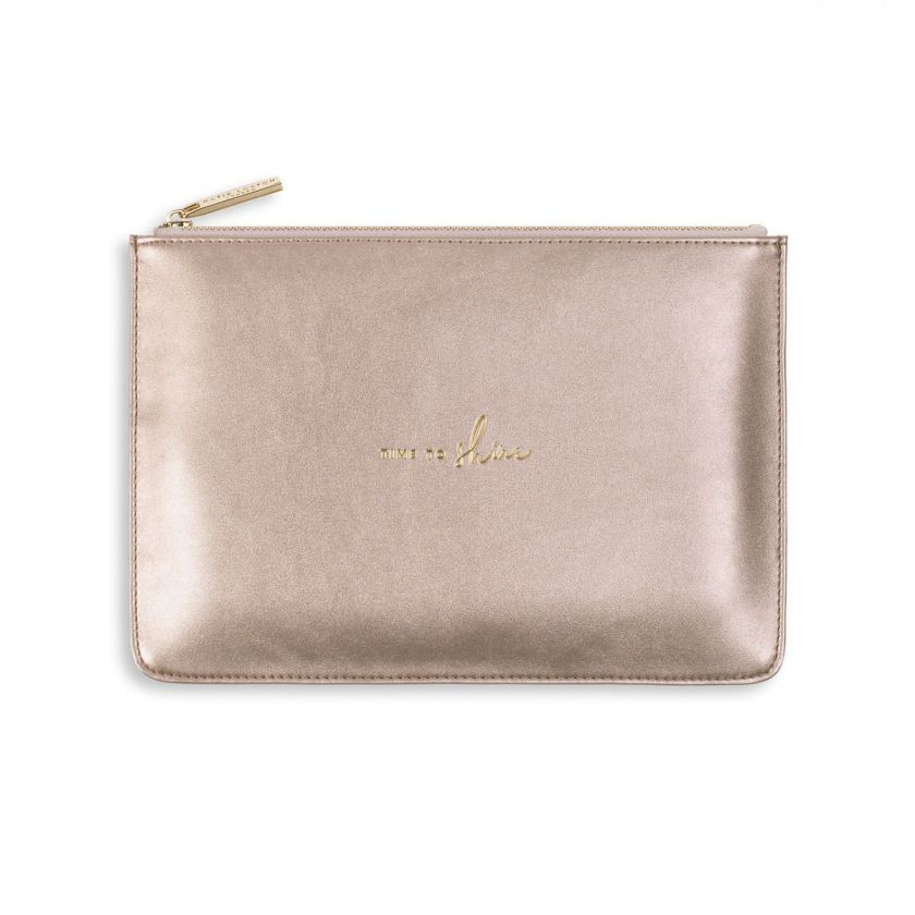 Katie Loxton Perfect Pouch - 'Time to Shine' Rose Gold