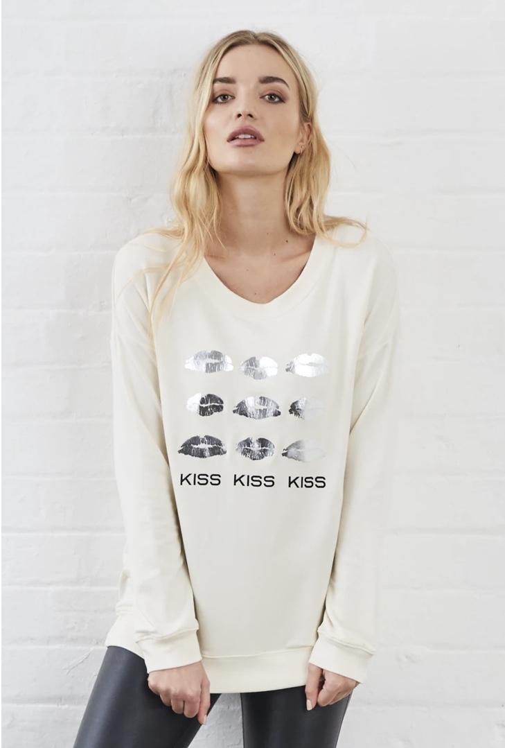 Sundae Tee - Kiss Kiss Long Sleeved Sweat - WAS £30