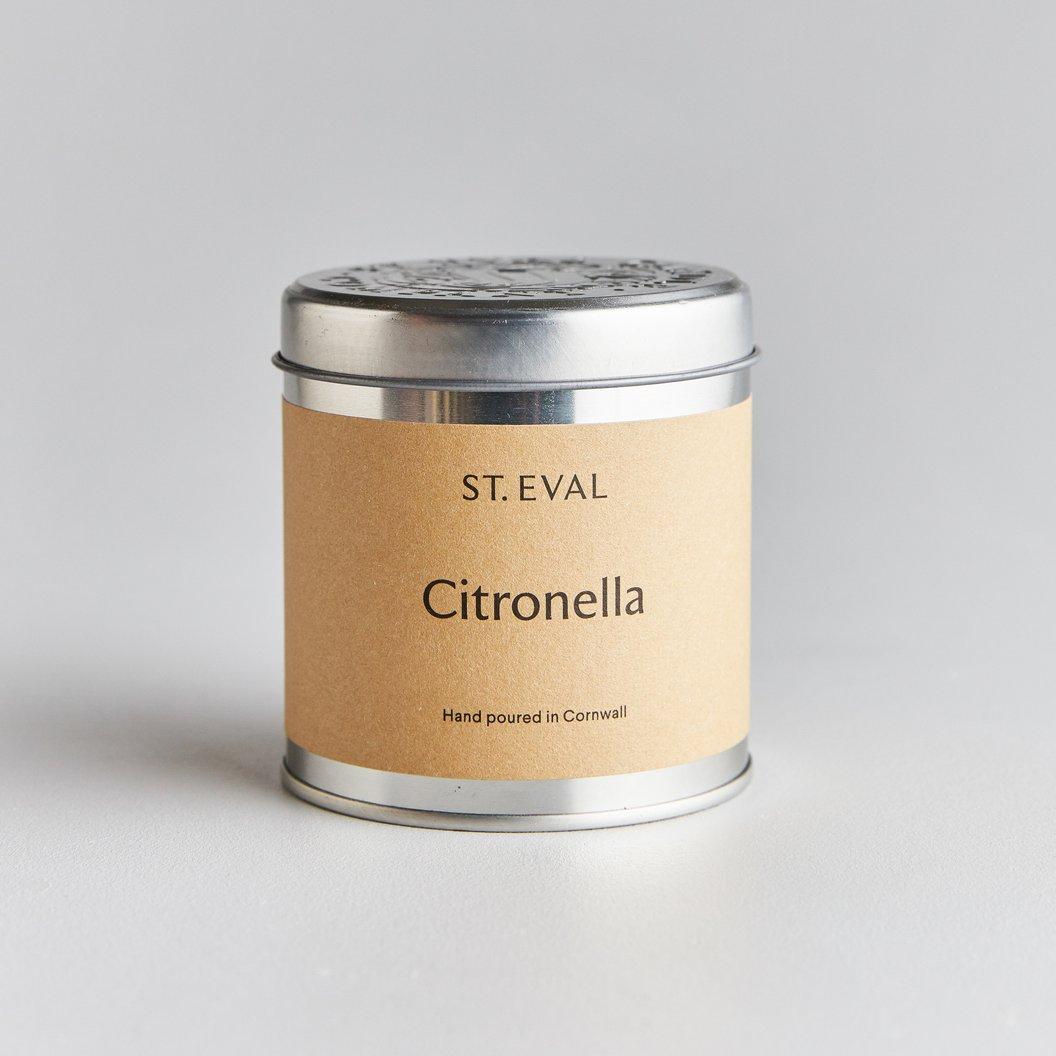 St Eval Candle Tin - Citronella