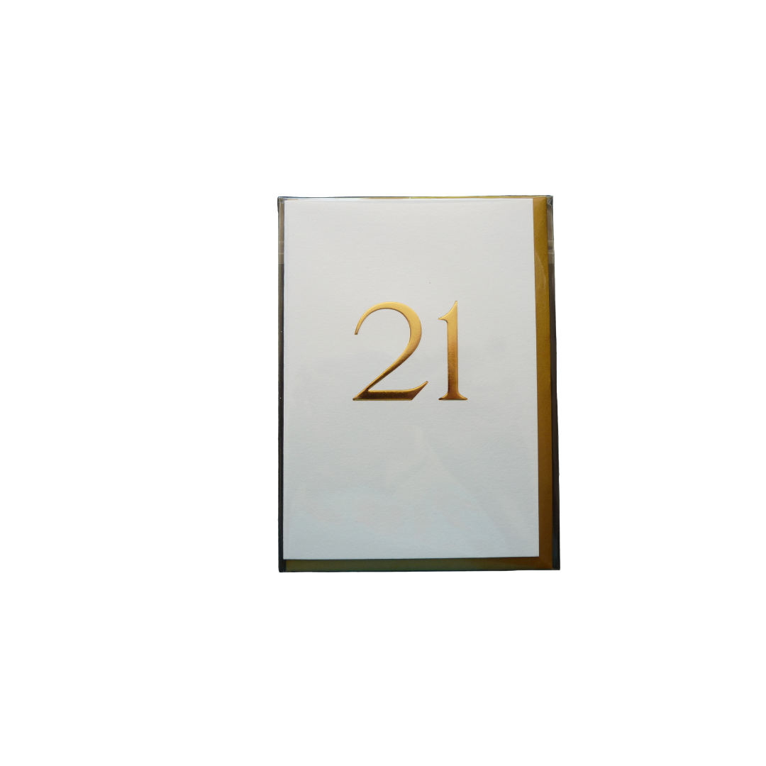 Card Age 21  Female - Gold White - Lagom 6119