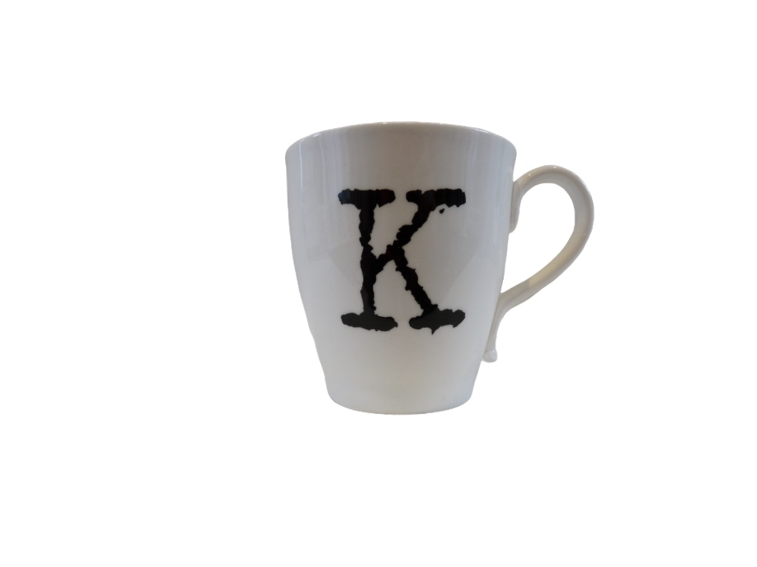 Glorious Mud Alphabet Mug - Knockout