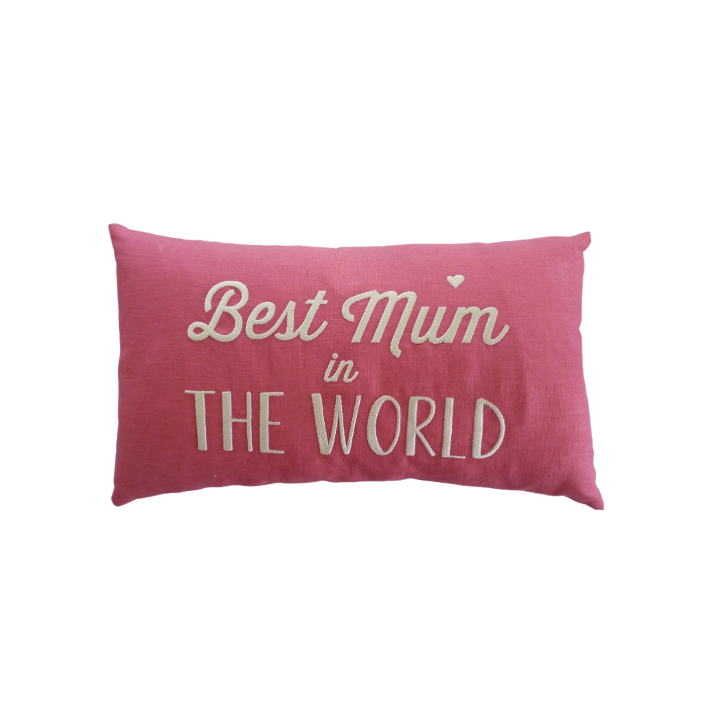 Linen Cushion - Best Mum in the World