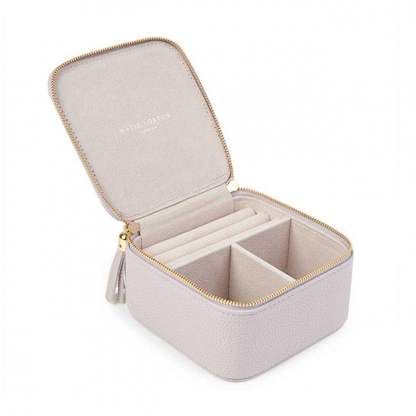 Katie Loxton Jewellery Box - 'Pretty Little Things' Stone Grey Square