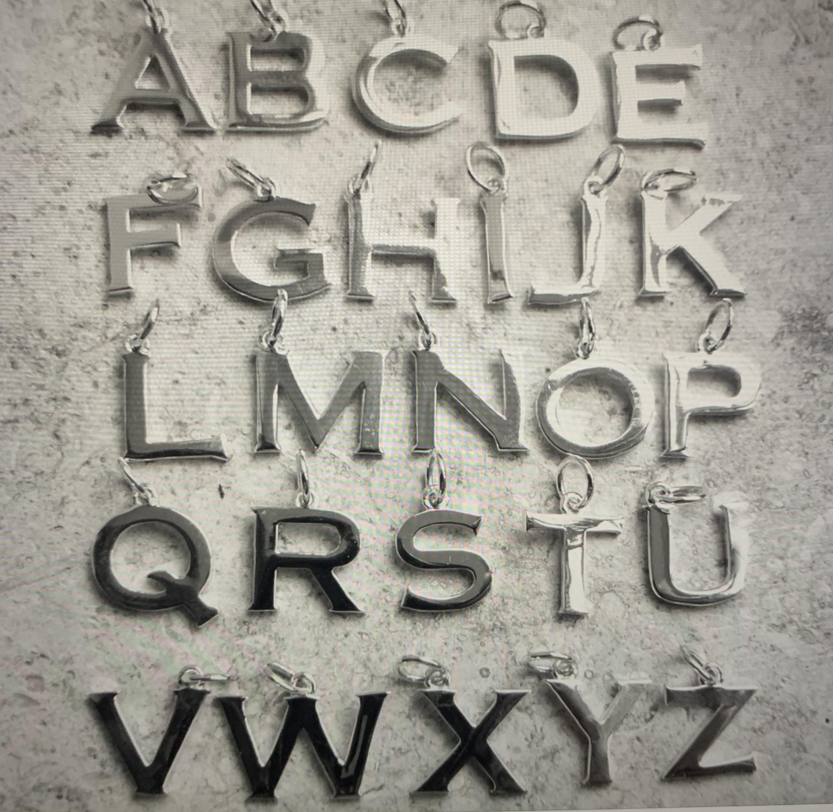 Lime Tree Alphabet Necklace - Silver - A-Z