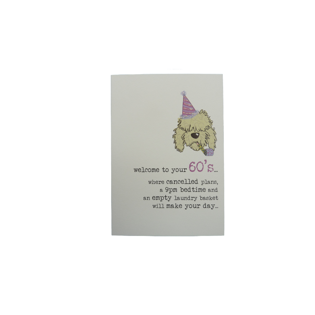 Card Age 60 Female - Cancelled Plans Cockerpoo - 677-60