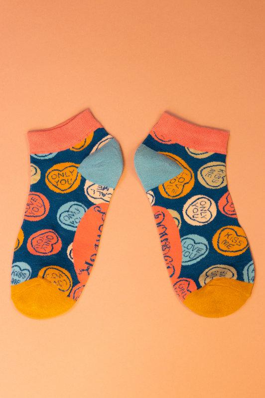 Powder Trainer Socks - Love Hearts