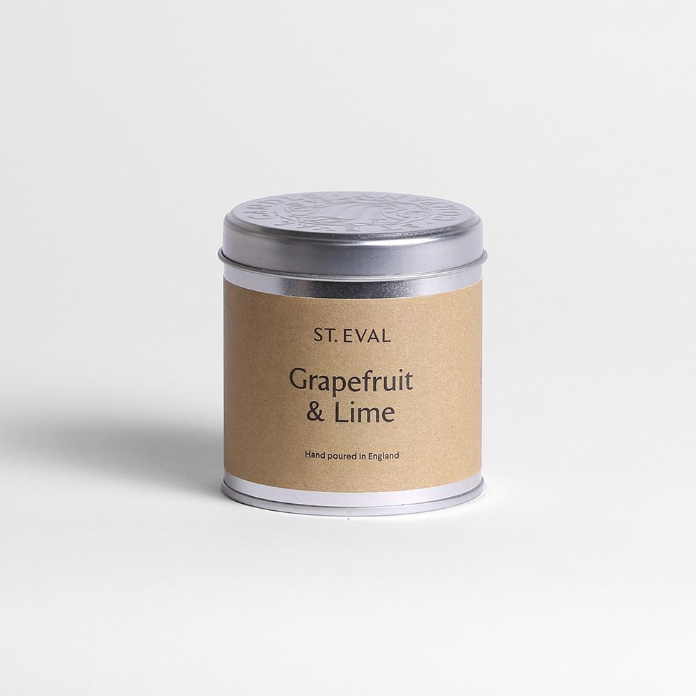 St Eval Candle Tin - Grapefruit & Lime