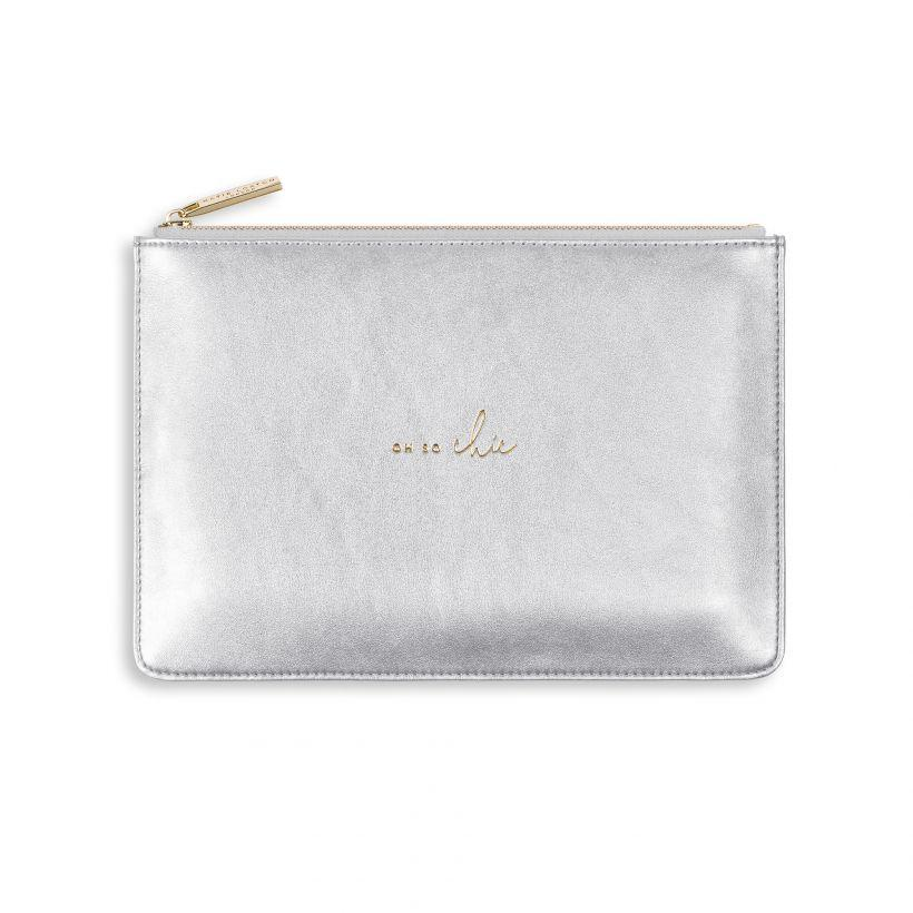 "Katie Loxton Perfect Pouch - 'Oh So Chic"" Metallic Silver"