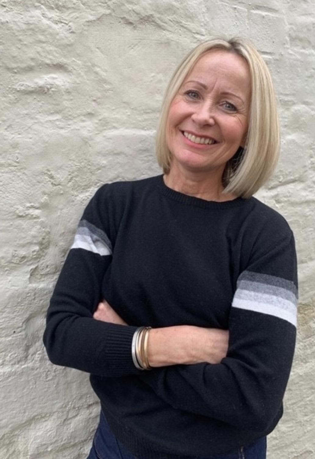 Luella Cashmere Mix Sweater - Lindy Black Stripe Detail WAS £59