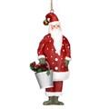 Gisela Graham Christmas Decoration Nostalgia - Santa With Bucket 16920