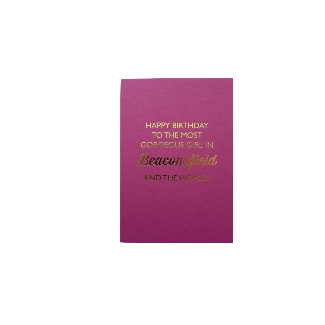 Card Female Bluebell - Gorgeous Girl BF D239