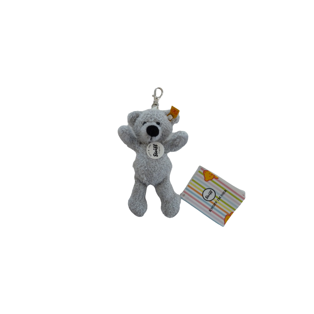 Steiff Teddy Bear - Key Charm Fynn Grey
