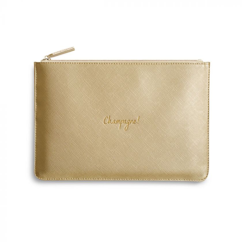 Katie Loxton Perfect Pouch - 'Champagne' Metallic Gold