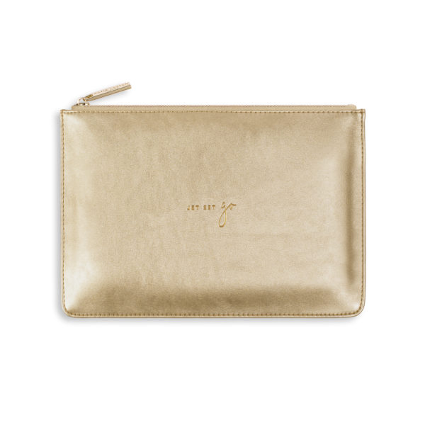 Katie Loxton Perfect Pouch - 'Jet Set Go' Metallic Gold