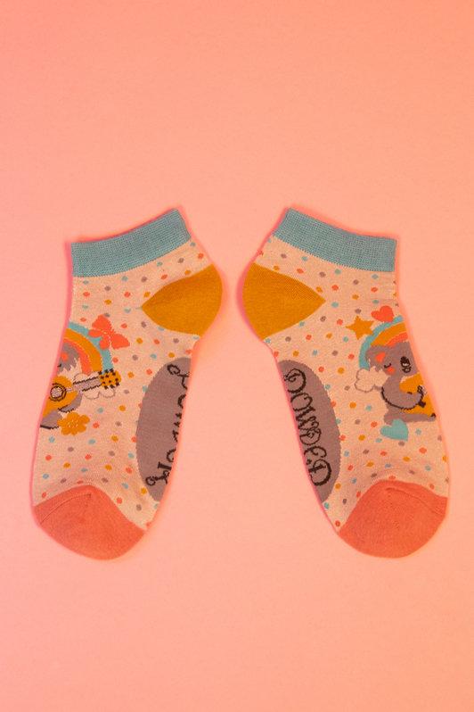Powder Trainer Socks - Musical Koala