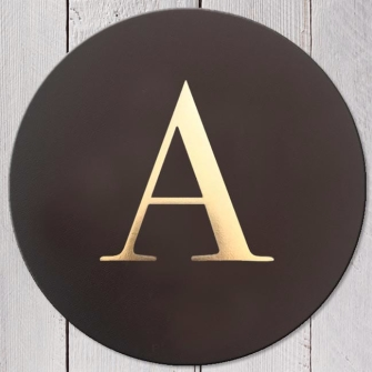 Leather Coaster Bluebell - Alphabet A-Z
