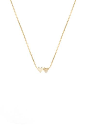 Tutti Necklace Connect Double Heart - Gold
