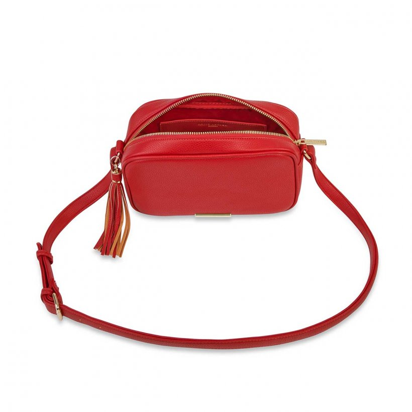 Katie Loxton Bag - Sophia Tassel Crossbody Red