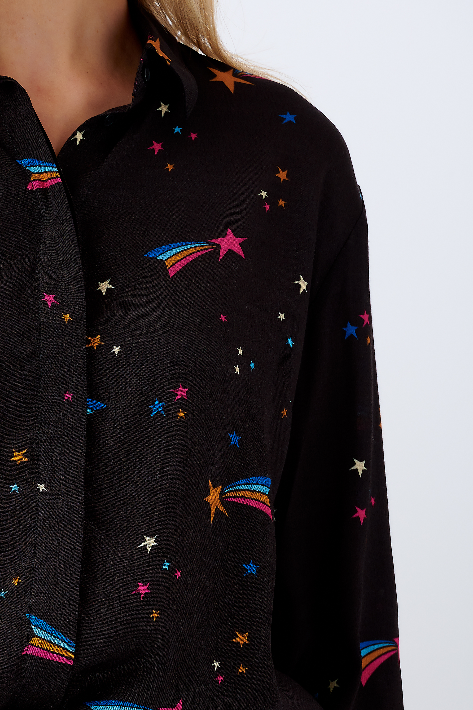 Sugarhill Brighton - Shirt Joy Wishing on a Star Black/Multi - WAS £45