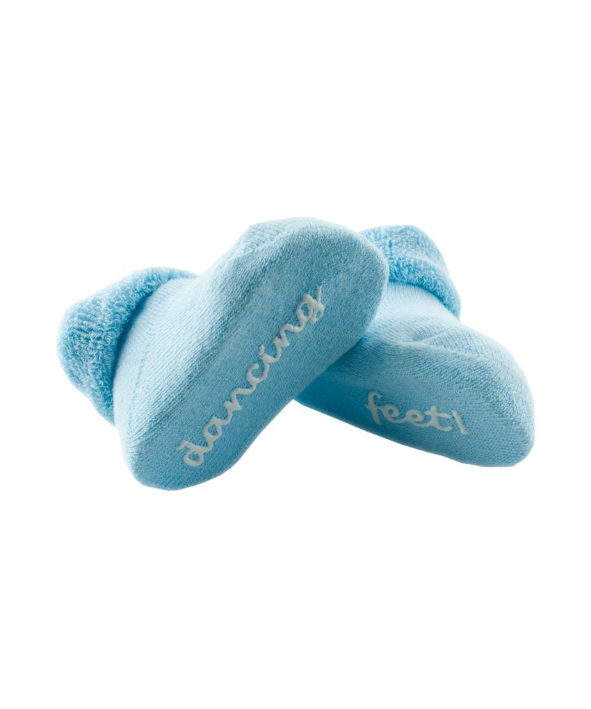 Baby Socks - Blue 'Dancing Feet'