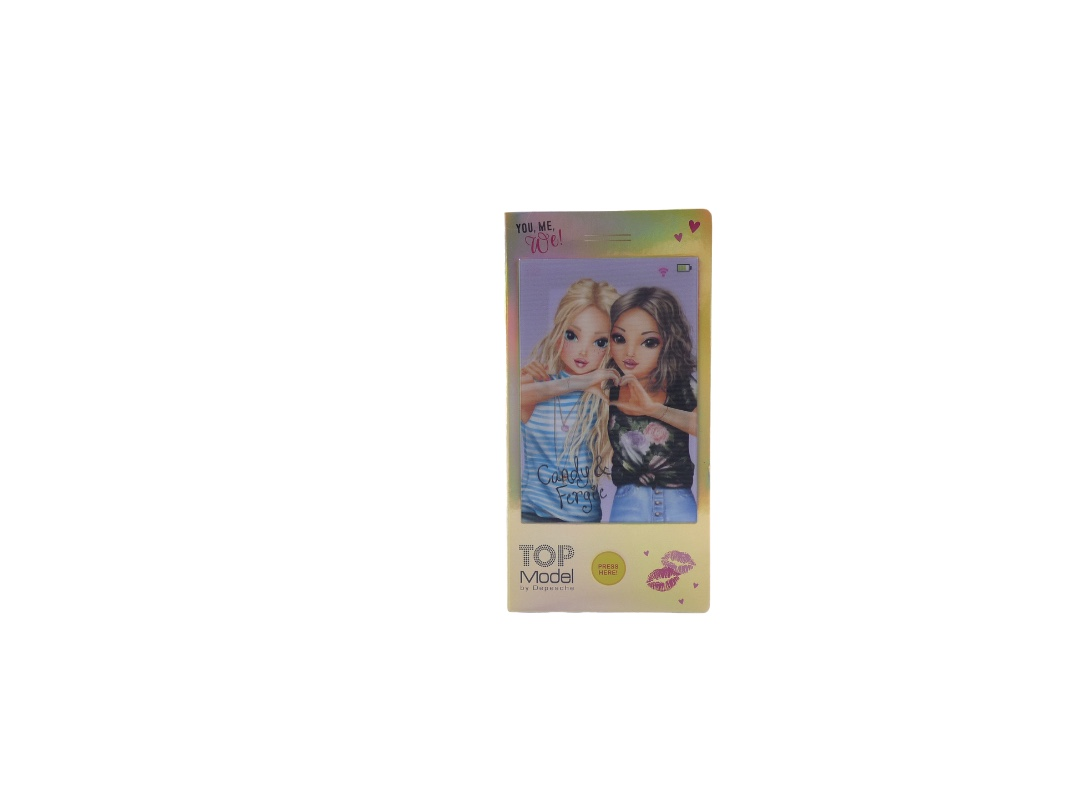Top Model Mobile Phone Colouring Book With Sound - Candy & Fergie