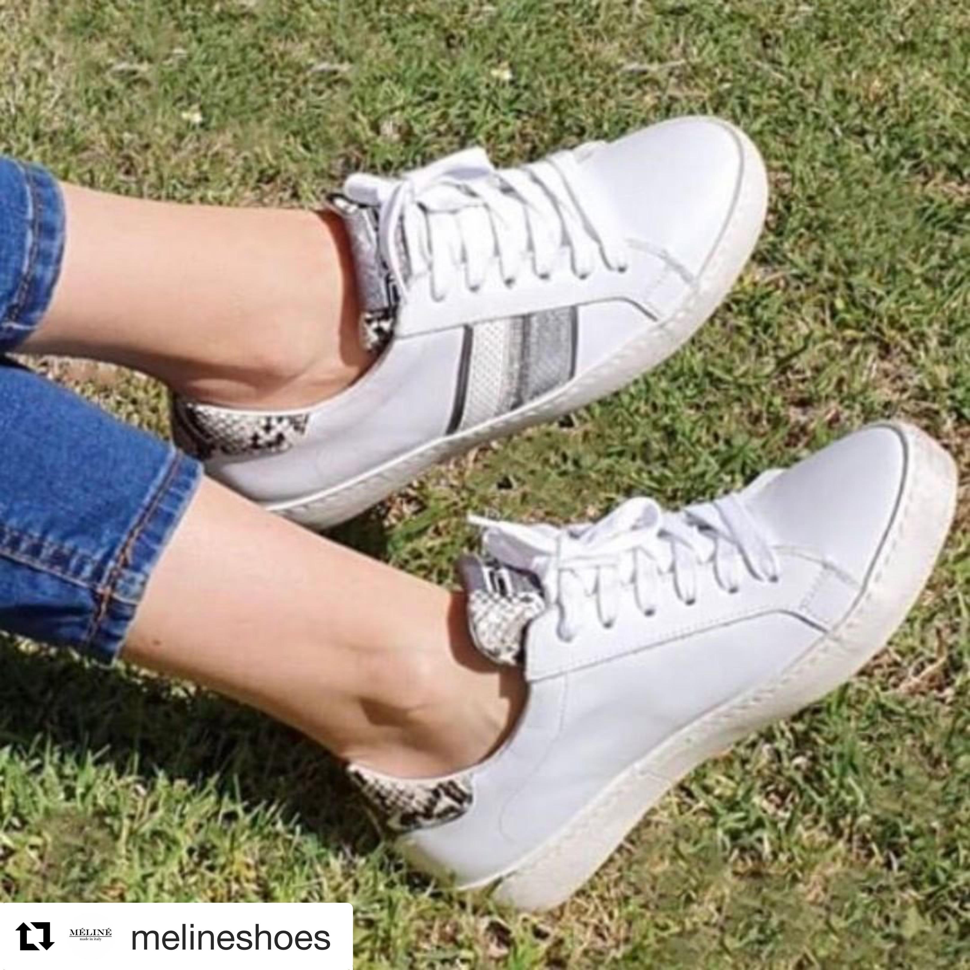 Meline Trainers - Silver Stripe 3015