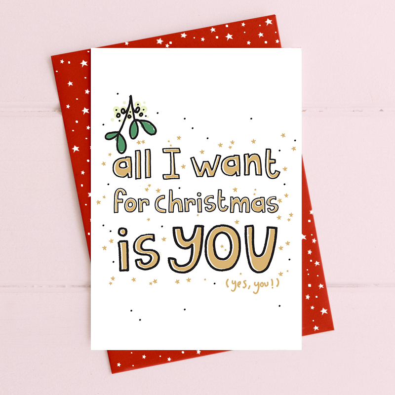Christmas Card Dandelion - All I Want Is You CAB8606
