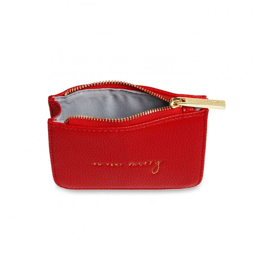 Katie Loxton Coin Purse Structured - So Very Merry Red