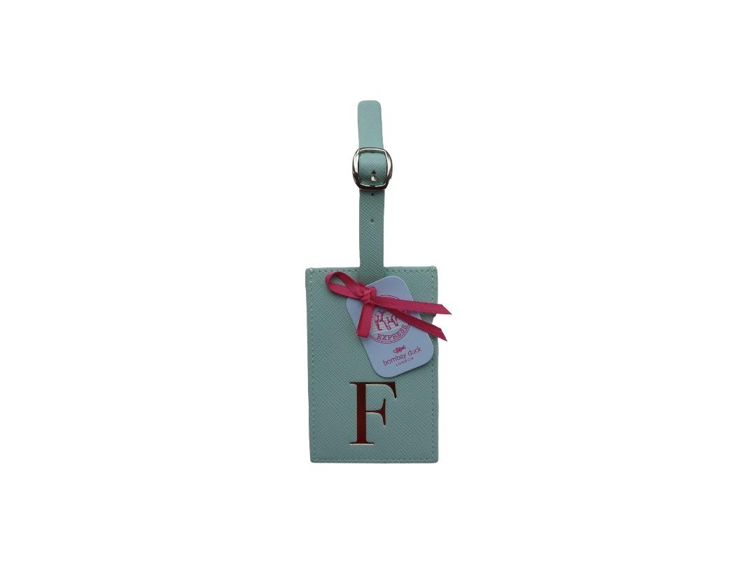 Bombay Duck Alphabet Luggage Tag - F