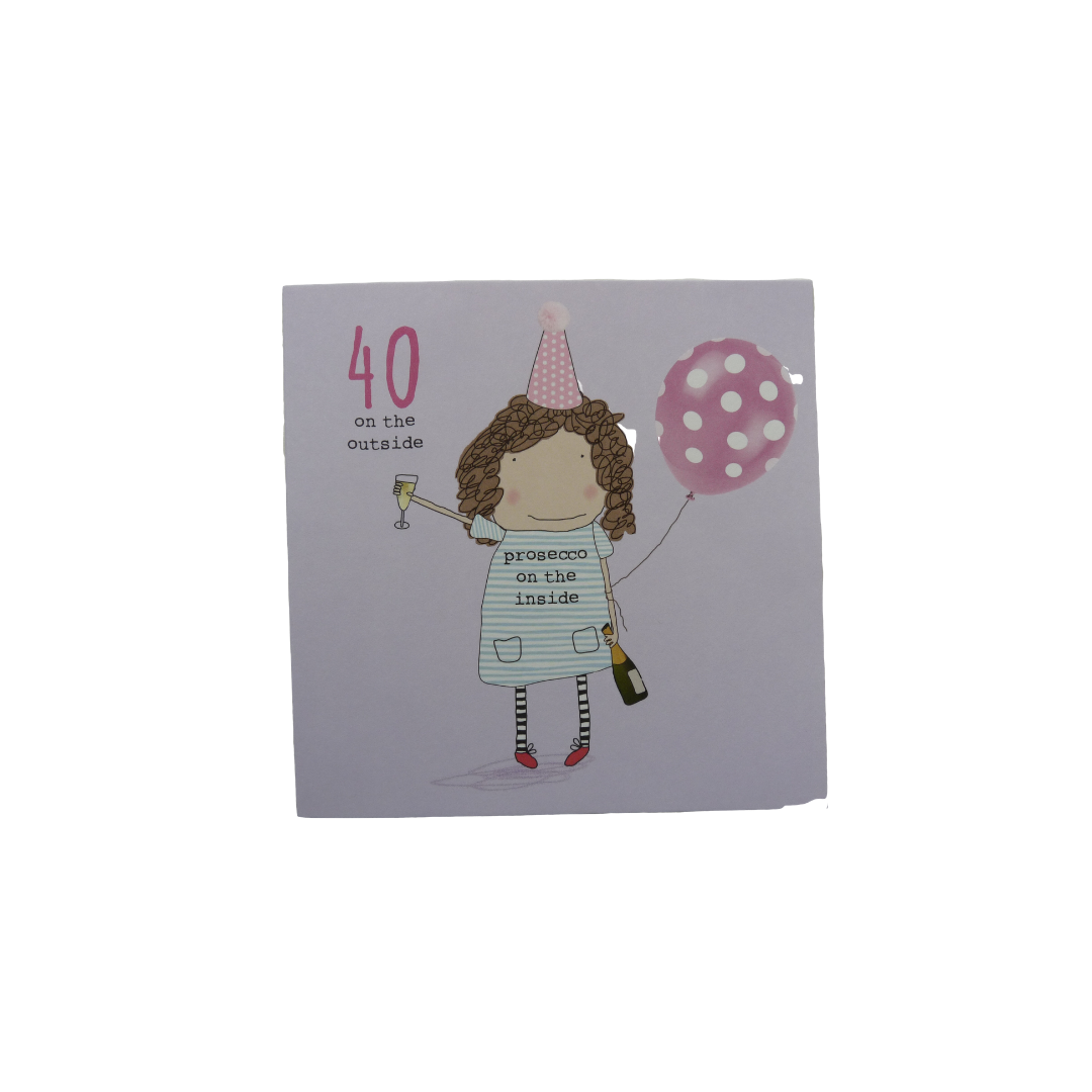 Card Age 40 Female - 40 0n the Outside - Rosie 38-40