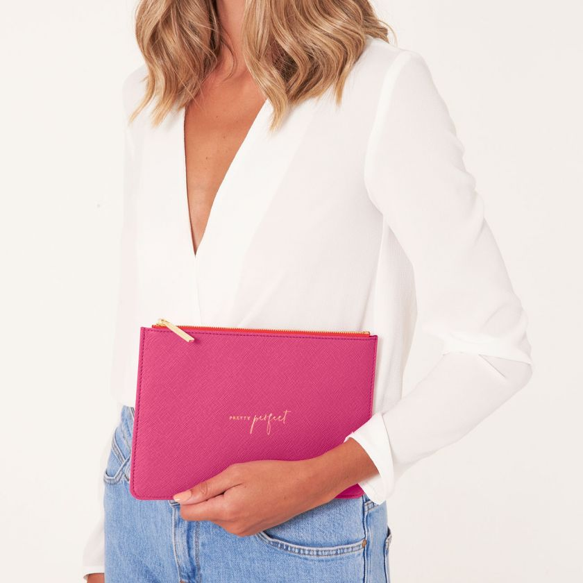 Katie Loxton NEW Perfect Pouch - 'Pretty Perfect' Hot Pink