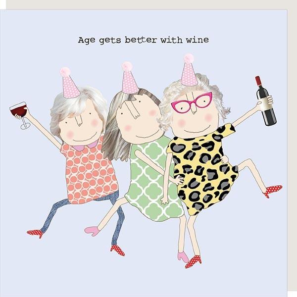 Card Female Rosie - Age Wine Girl - 221