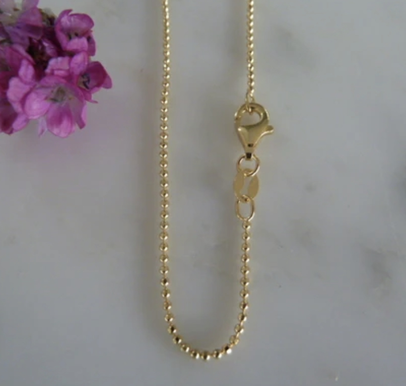 Necklace - Marlene Hounam Gold Facetted Ball Chain - Various Lengths