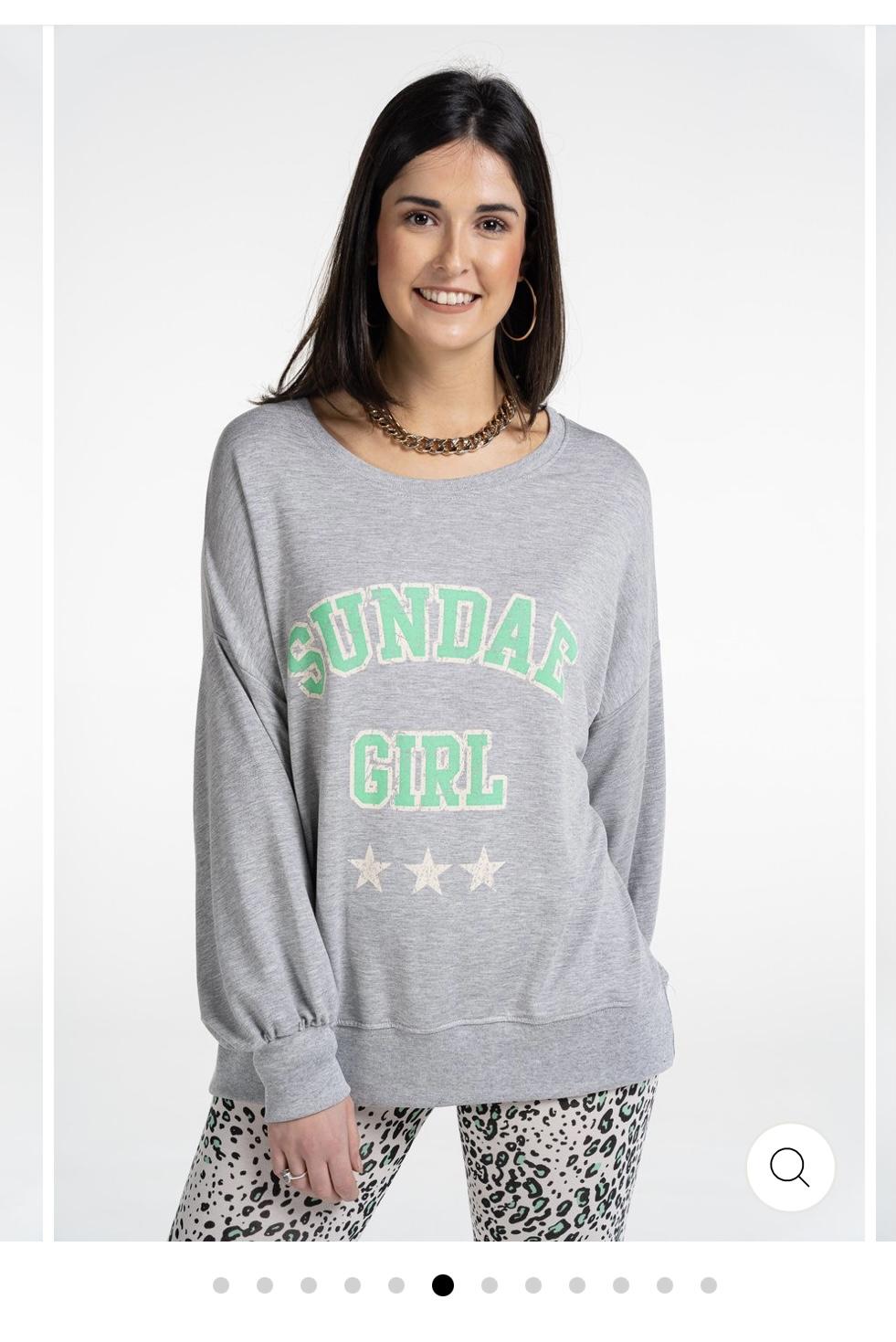 NEW! Sundae Tee - Sundae Girl Slouchy Top Grey Marl WAS £39