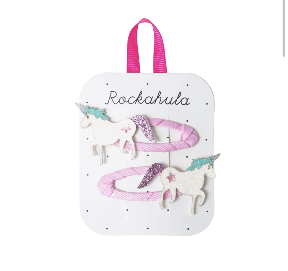 Rockahula Unicorn Glitter Hair Clips