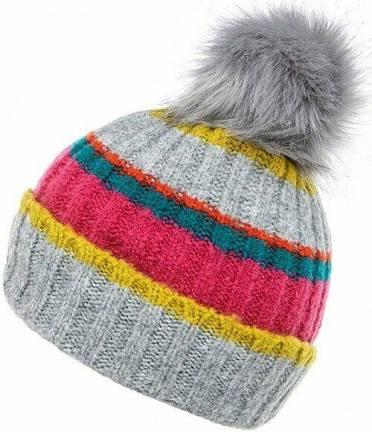 Bobble Hat - Multi Coloured Stripe Boardmans